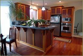 High Gloss Laminate Floor Craftsman Style Kitchen Prairie Cabinets Brown Metal Mini Pendant