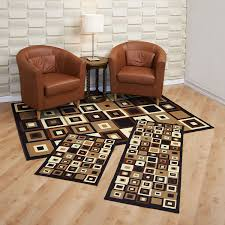 3 piece living room set amazon com achim home furnishings capri 3 piece rug set
