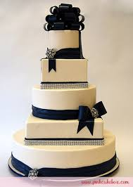wedding cakes with bling blue bows and bling wedding cake wedding cakes