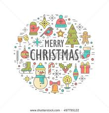 christmas elements collection vector design stock vector 518796526