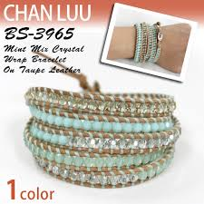 crystal leather wrap bracelet images Socalworks rakuten global market changle chan luu mint crystal jpg