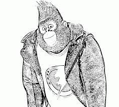 coloring page of gorilla realistic gorillaoloring pagesute baby magilla for kids page gorilla