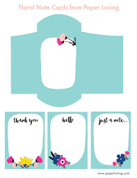 printable floral note cards with envelope