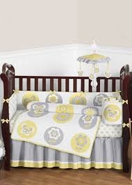yellow and grey baby bedding decorate my house