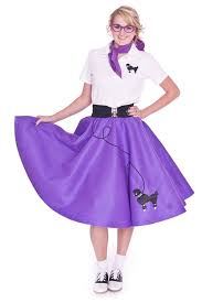 poodle skirt halloween costume amazon com hip hop 50s shop 7 piece poodle skirt costume