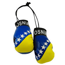 Flag Of Bosnia Amazon Com Bosnia Country Flag Mini Boxing Gloves To Hang Over