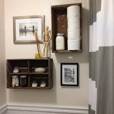 bathroom closet shelving idea brown polished ebony wood floating