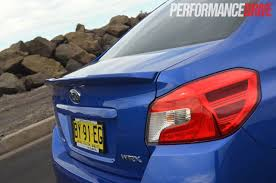 subaru roof spoiler 2015 subaru wrx premium review video performancedrive