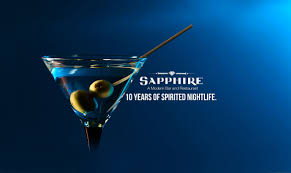 apple martini bar sapphire a modern bar and restaurant street in downtown