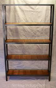 handmade industrial style bookshelf steel square tube frame