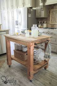 diy kitchen island free plans mobile kitchen island tutorials