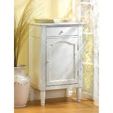 Distressed White Table Amazon Com Antiqued Distress White Finish Cabinet Table