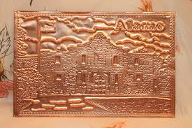kopper kard postcards vintage alamo embossed postcard copper card kopper kard copper