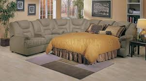 Home Theater Sectional Sofas 4 5000 Home Theater Sectional Sofa W Pull Out Bed By Acme