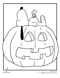 its the great pumpkin brown coloring pages snoopy 1835