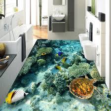 tapeten fã r badezimmer benutzerdefinierte hd 3d boden wandbild tapete unterwasserwelt