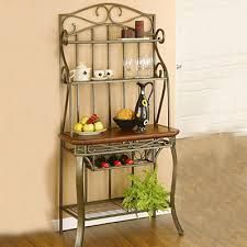Dome Bakers Rack Provides Ample Storage Space Beautiful Black Powdercoat Finish