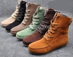 womens boots fashion footwear fashion style lace up winter boots flat ankle shoe