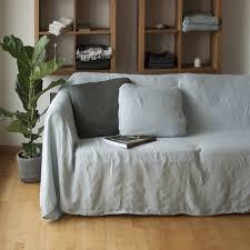 linge lit lin housse de canapé lin couvre lit lin naturel canapé housse