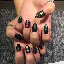 simple calgel nails with sticker u0026 stone designs yelp