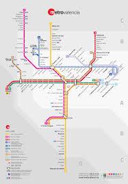 Pdf Metro Map valencia subway map 2017