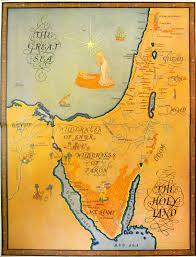 Biblical Maps 1927 Map Palestine Holy Land Israel Promised Land Jerusalem