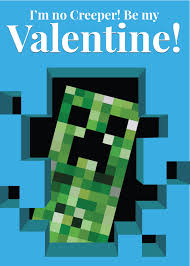 minecraft valentines cards heart containers 19 printable valentines for