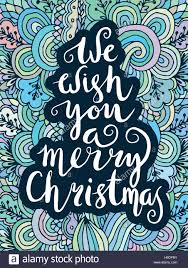 we wish you a merry quote on patterned background stock