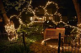 Stringing Lights In Backyard by From Yuletide To Summer Time String Lights Are Big The Kansas
