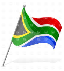 Afican Flag Wavy Flag Of South African Republic Royalty Free Vector Clip Art