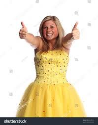 teen wearing yellow prom dress stock photo 60528112 shutterstock