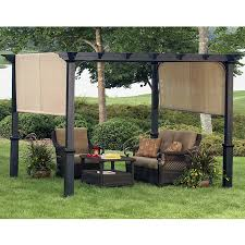 Lowes Pergola Plans by Cedar Pergola With Built In Bench Seating Outdoor Pinterest
