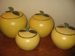 retro aluminum golden apple canister set 8 pieces the apple