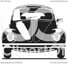 volkswagen beetle clipart clipart illustration of the front of a volkswagen bug car in black