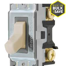 Switch With Pilot Light Shop Hubbell 15 20 Amp Single Pole Ivory Toggle Indoor Light