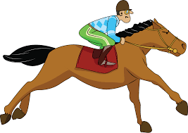 horse racing clipart cartoon pencil and in color horse racing
