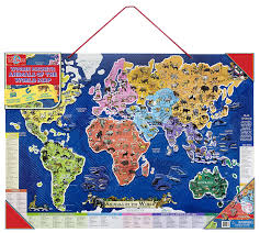 Animal World Map by Amazon Com T S Shure Animals Of The World Wooden Magnetic Map
