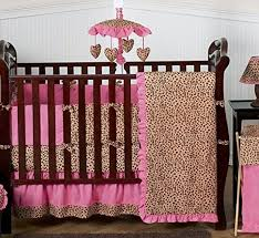 Jojo Crib Bedding Sweet Jojo Designs Cheetah Animal Print Pink And Brown Baby