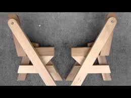 Build A Folding Picnic Table by An Easy Way To Build A Folding Picnic Table Youtube
