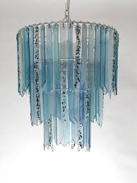 Teal Glass Chandelier Chandelier Made In Spain Blown Glass Chandelier Art Glass Lighting