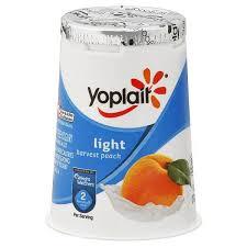 yoplait light yogurt ingredients yoplait light yogurt fat free harvest peach 6 oz 170 g shop