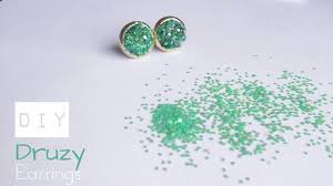 druzy stud earrings diy druzy stud earrings how to make faux druzy earrings