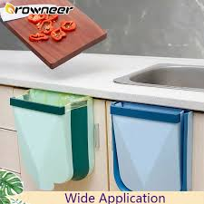 kitchen wall mounted cabinets hanging trash can tpe folding storage bin space saving