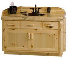 Pine Bathroom Vanity Cabinets Bathroom Vanity Pine Slab Countertop Log Cabin Ideas