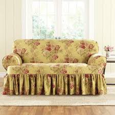 Sure Fit T Cushion Sofa Cover Sure Fit Ballad Bouquet 1 Piece T Cushion Sofa Slipcover Free