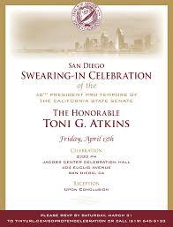 san diego swearing in celebration of toni g atkins as 48th