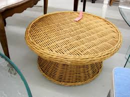 wicker ottoman coffee table coffee tables thippo