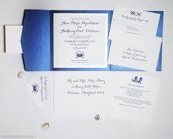 Wedding Programs Trifold Blue Crab Wedding Invitation Suite By Artist Michelle Mospens