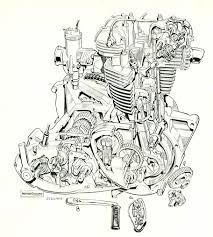 triumph 650 cutaway cutaways pinterest triumph 650 cutaway