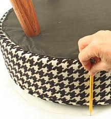 How To Reupholster A Bar Stool How To Upholster A Round Stool
